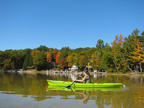 Fall Kayaking Traverse City