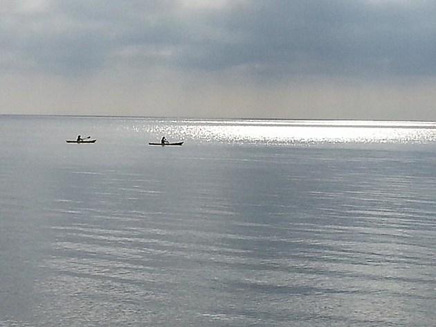 Kaykers at dawn along Lake Huron near Lexington (Jojo Girard/Townsquare Media)