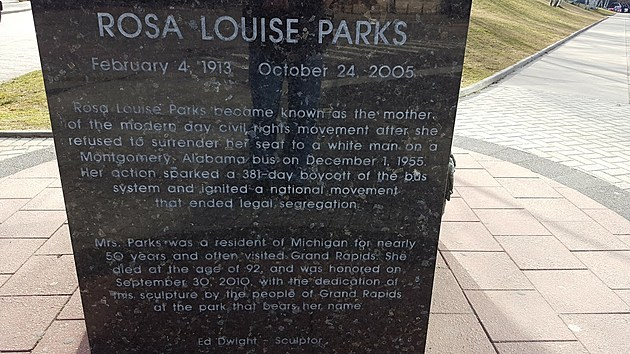 Plaque honoring Praks in Grand Rapids (Jojo Girard/TSM)