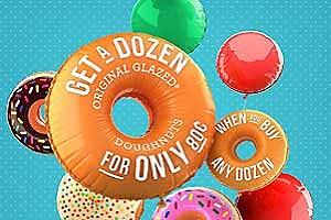 Krispy Kreme 80 cent dozen doughnuts