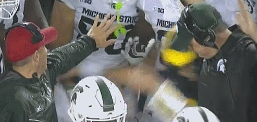 Michigan QB John O'Korn's Sideline Stumble Still An Unsolved Mystery [Video]